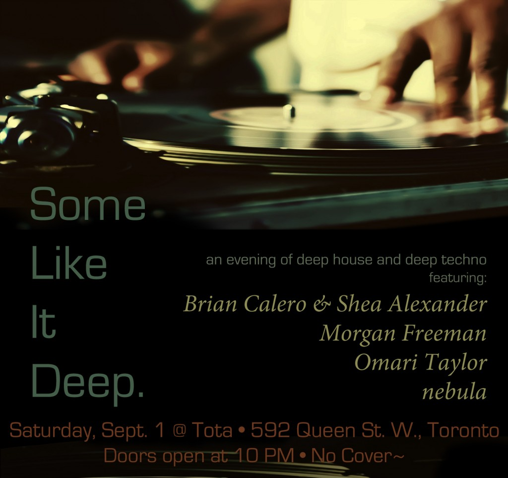Some Like It Deep - Flyer