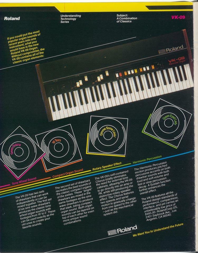 Roland VK-09 Ad